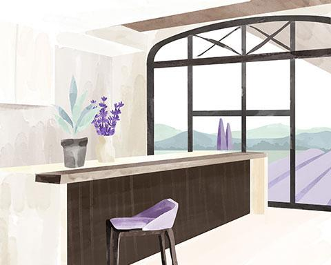 Entretien de la maison et ménage dans votre salon, cuisine et salle à manger