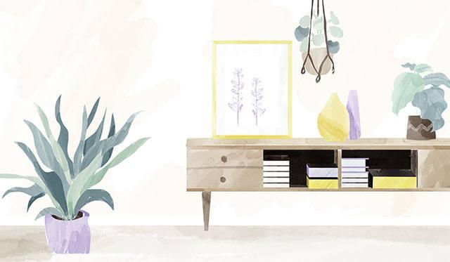 La compagnie des lavandières propose le rangement de la maison, du mobilier et soin des plantes